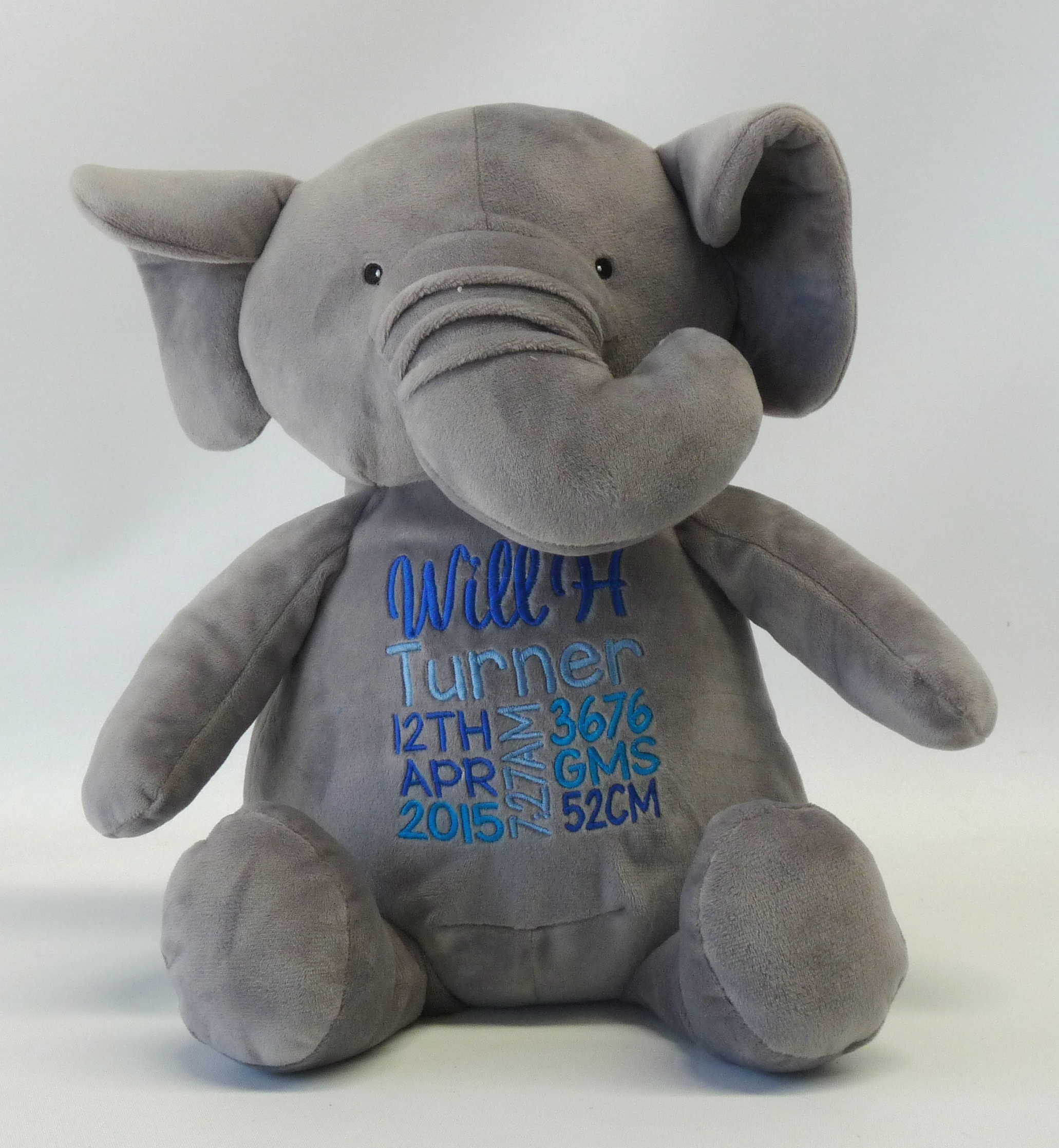 elephant birth announcement boy from my teddy