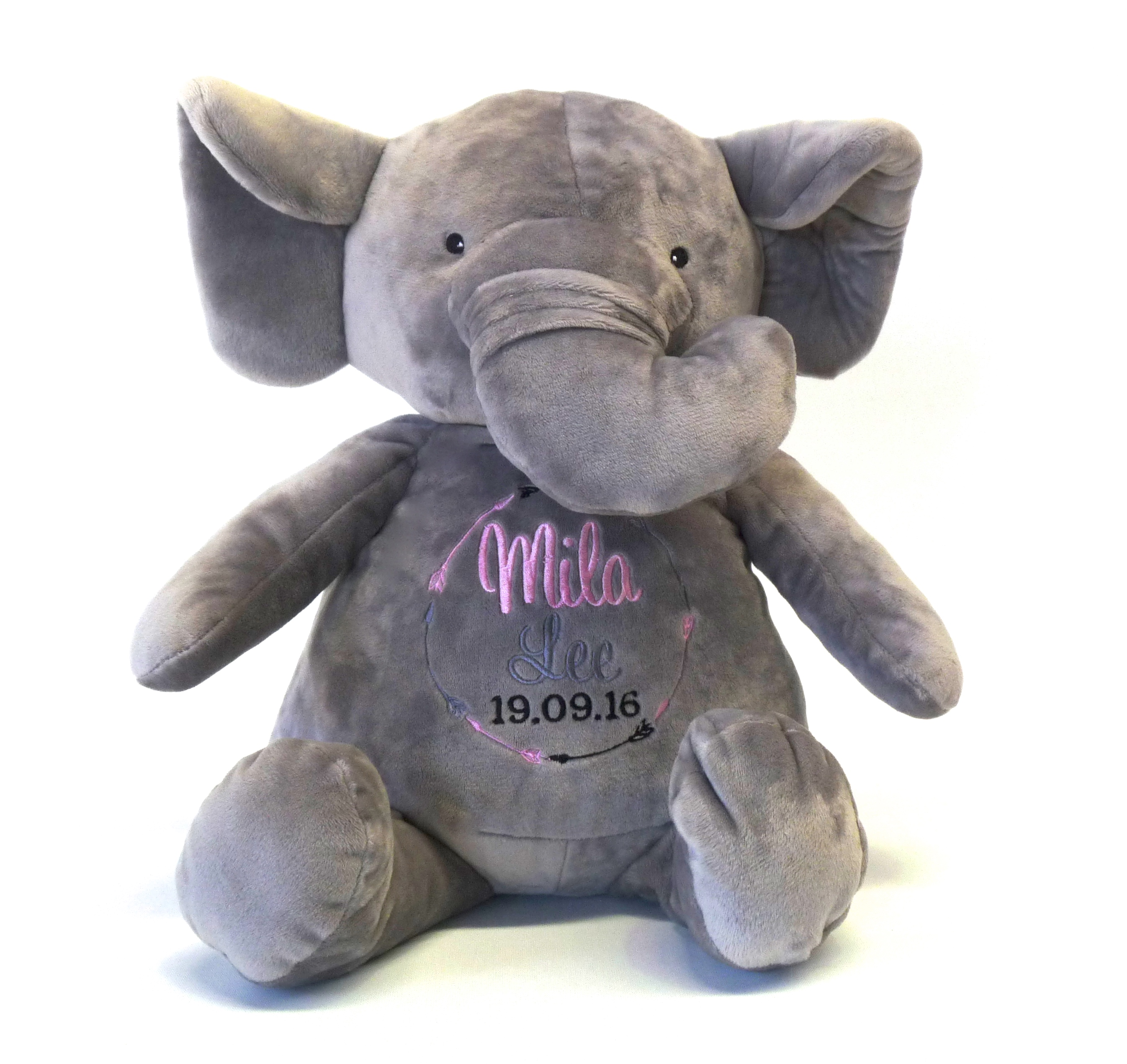 This+is+an+image+of+an+Elephant+Critter+Personalised+Teddy+from+My+Teddy