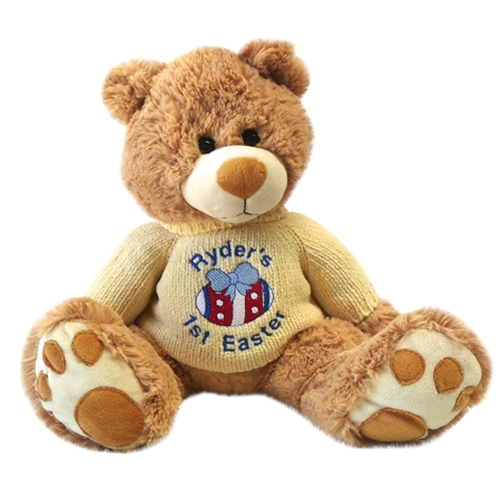 Teddy bears personalised gifts myteddy first easter teddy bear boy negle Choice Image