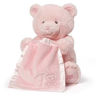 This+is+an+image+of+a+Gund+Peek+a+Boo+Teddy+Bear+Pink