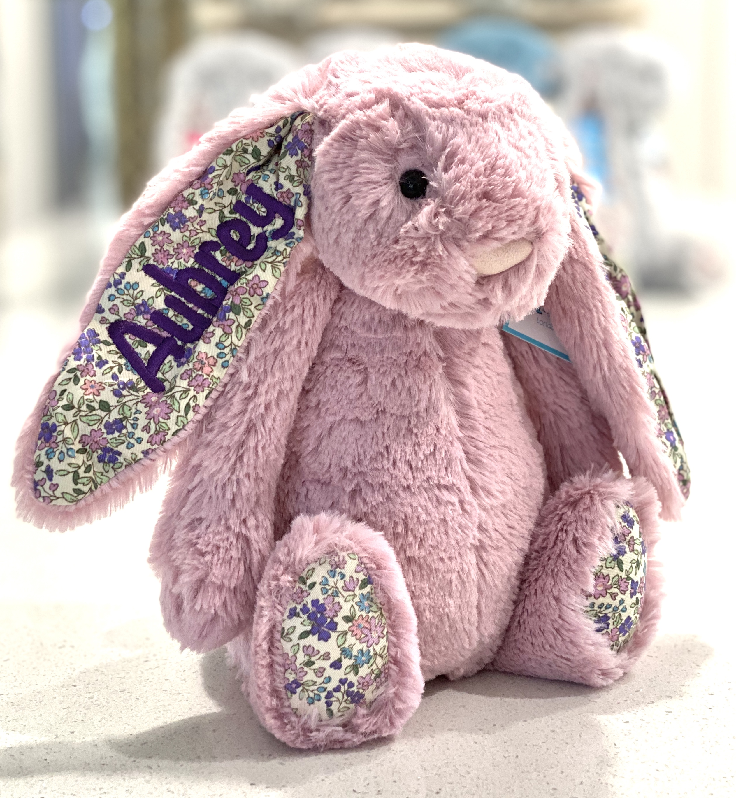 Tulip+Blossom+Jellycat+Bunny+Personalised