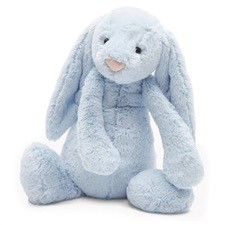 Personalised+Blue+Jellycat+bunny+large+