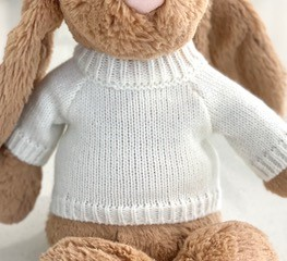Personalised+Jellycat+Jumper+white