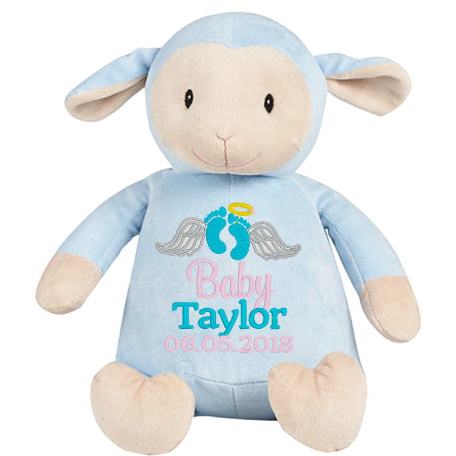 This+is+an+image+of+a+Blue+Lamb+Teddy+Tribute+Gift+from+My+Teddy