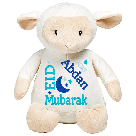 This+is+an+image+of+a+Lambkins+White+Eid+Greetings+from+My+Teddy