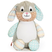 Personalised+teddy+Mint+patchwork+bunny+from+My+Teddy