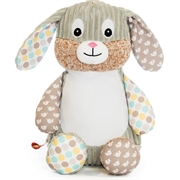 Personalised+teddy+Springtime+patchwork+bunny+from+My+Teddy