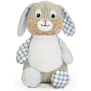 Personalised+teddy+Starry+Night+patchwork+bunny+from+My+Teddy