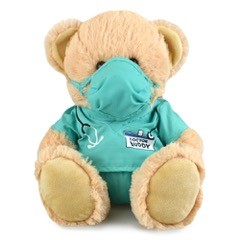 Teddy+bear%2c+doctor+in+mint+scrubs