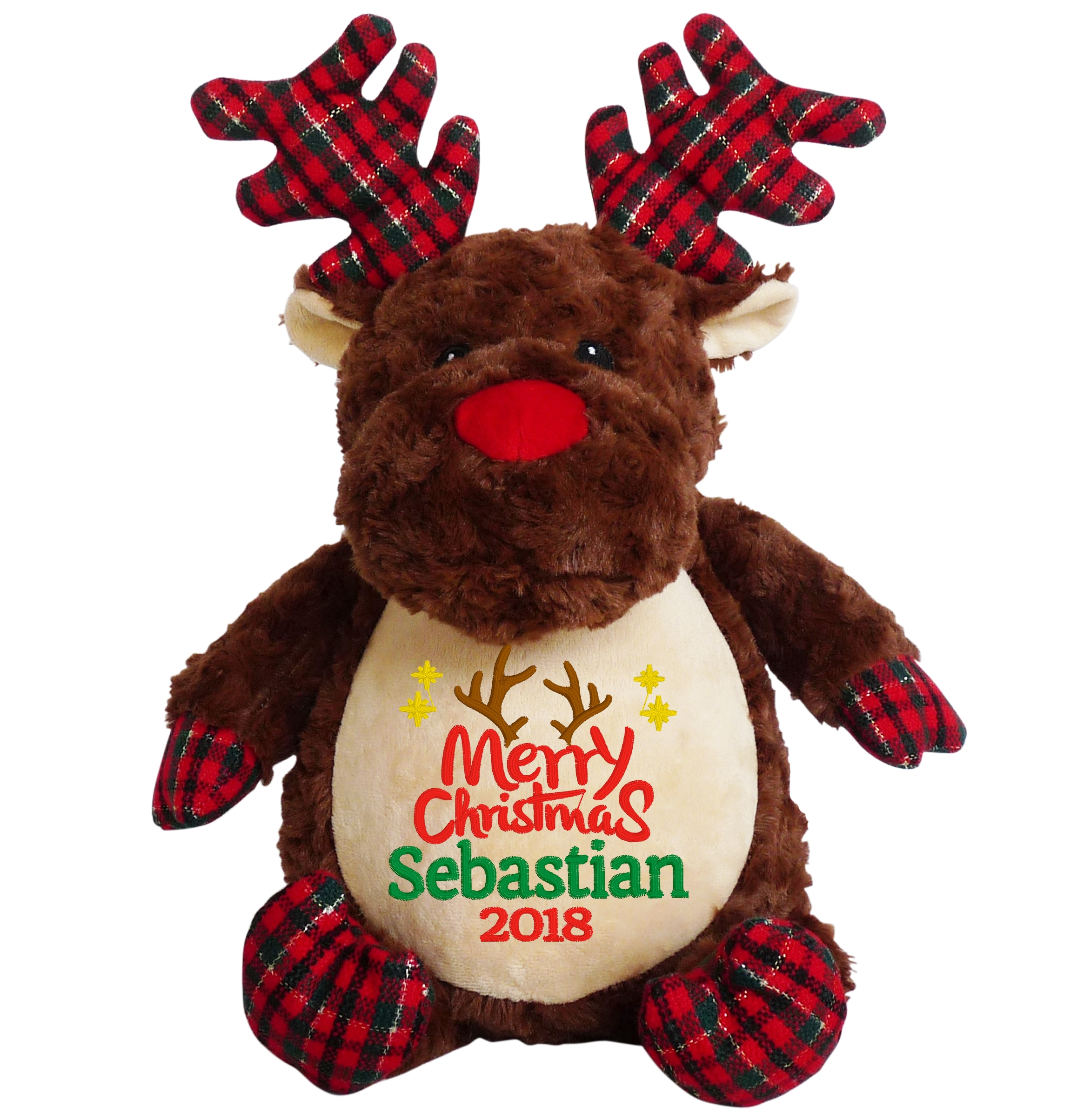 This+is+an+image+of+a+Reindeer+Teddy+Personalised+Christmas+Gift+from+My+Teddy