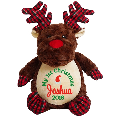 This+is+an+image+of+a+Prancer+Reindeer+Personalised+Christmas+Gift+from+My+Teddy