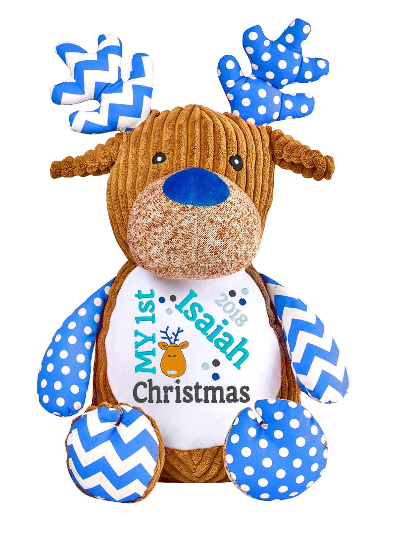 This+is+an+image+of+a+Reindeer+Blue+Baby+Christmas+Gift+from+My+Teddy