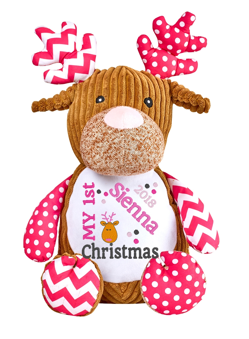 This+is+an+image+of+a+Reindeer+Pink+Baby+Christmas+Gift+from+My+Teddy