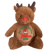 This+is+an+image+of+a+Rudolf+Teddy+Personalised+Christmas+Present+from+My+Teddy