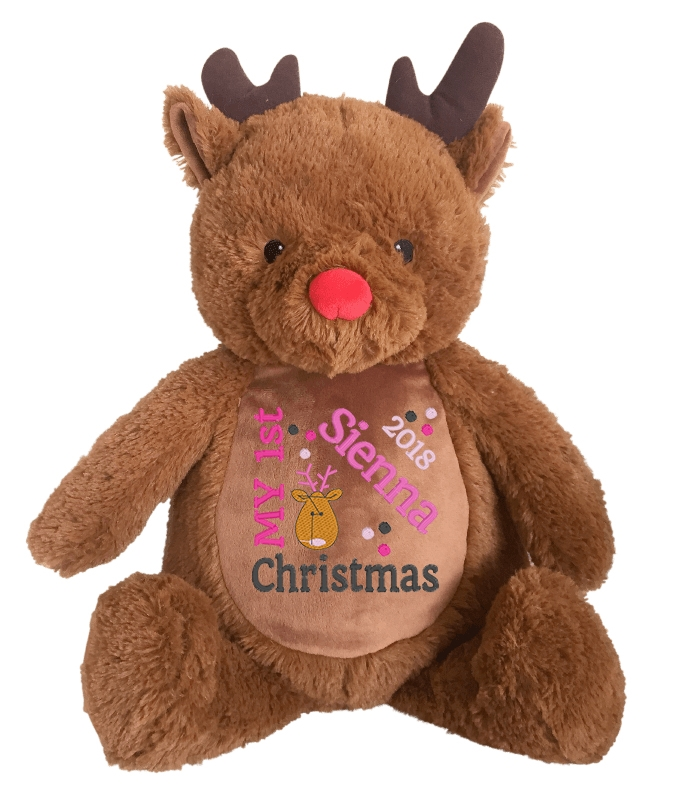 This+is+an+image+of+a+Rudolf+Reindeer+1st+Christmas+Gift+from+My+Teddy