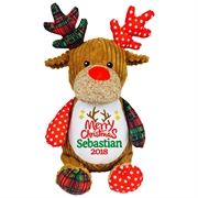 This+is+an+image+of+a+Reindeer+Personalised+Teddy+from+My+Teddy
