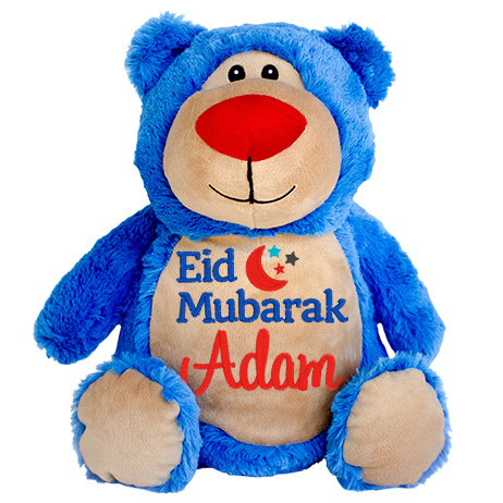 This+is+an+image+of+a+Teddy+Bright+Blue+Eid+Greetings+from+My+Teddy
