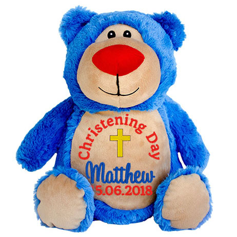 This+is+an+image+of+Teddy+Bright+Blue+Christening+Gift+Ideas+from+My+Teddy
