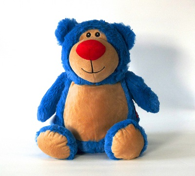 This+is+an+image+of+a+personalised+customised+teddy+bear+cubbie+bright+blue+from+My+Teddy