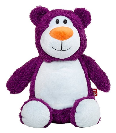 This+is+an+image+of+a+customised+teddy+bear+cubbie+purple+from+My+Teddy