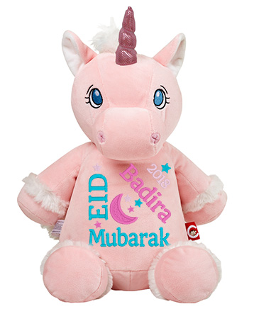 This+is+an+image+of+a+Pink+Unicorn+Eid+Celebration+from+My+Teddy